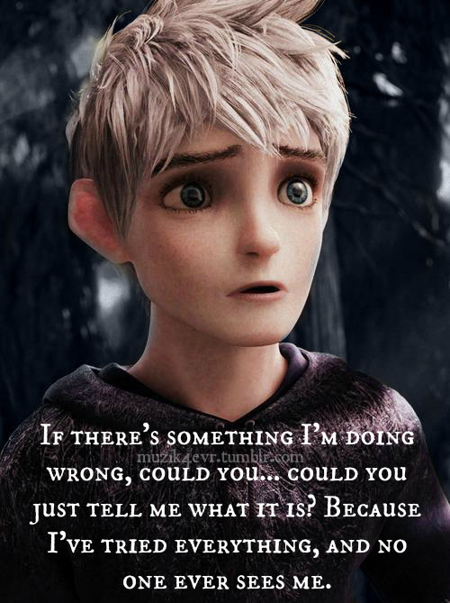 Just seeing it and I love it!  Jack Frost I believe in you<3