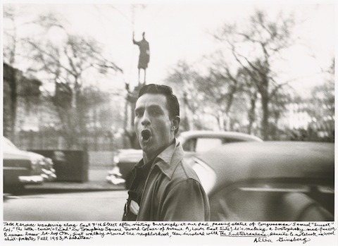 explore-blog:  Allen Ginsberg's hand-annotated photos of the beat generation