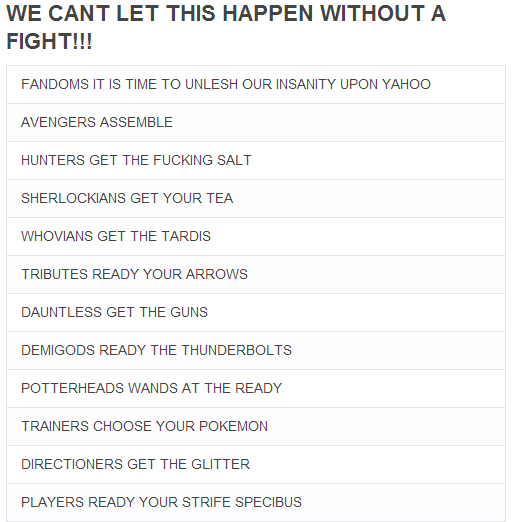 onedirectioncutefacts:  punkbeds:  yahoo think about what you're doing before you buy tumblr and encounter these people   Directioners get the glitter oh my fucKING GOD