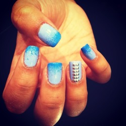 Fade Away with double studs by Wah gurl Izzy #nails #nailart