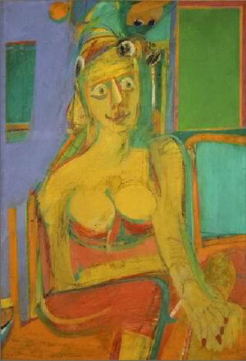 Woman, 1944; by Willem de Kooning