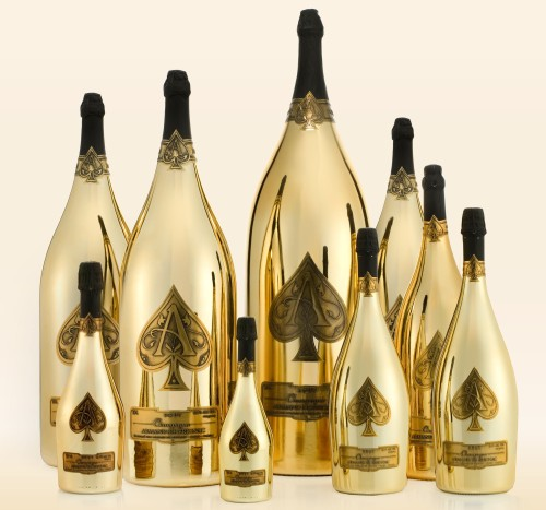 So Ace of Spades now has this thing called Armand de Brignac Dynastie that's a collection of every available bottle format it comes in. It goes for the low, low price of half a million bucks. Somewhere, Scott Disick is rejoicing. View Post