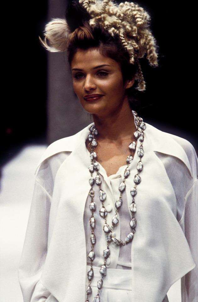 Fendi - Spring 1993 RTW #fashion#fashion show#fendi #spring 1993 rtw #1993#fendispring1993rtw#helena christensen#supermodel#original supermodels#supermodels#90s#90s aesthetic#90s fashion#runway#model#models#beautiful#haute couture#couture#glamour#luxury#designer#looks#fashion looks