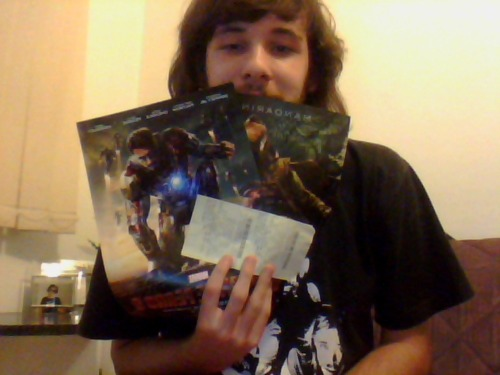 TICKET FOR IRONMAN3 AND MINIPOSTERS. IM SO SO SO SO HAPPY