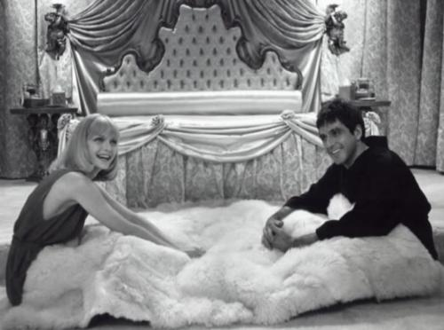 Michelle Pfeiffer and Al Pacino on the set of Scarface. (1983)