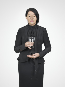 rememberance-of-things-past:  Marina Abramović, Water Study from With Eyes Closed I See Happiness, 2012