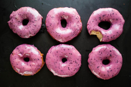 BOURBON BLUEBERRY BASIL DONUTS Recipe