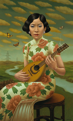 artisticmoods:  The Mandolin, by Alex Gross.