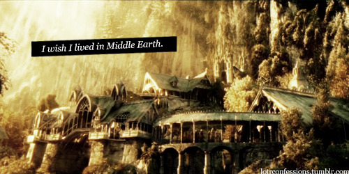 lotrconfessions:  I wish I lived In Middle Earth. I want it so badly, no one understands how much I live for these characters and this world. I want to be loved by Faramir, to be hugged by Frodo, for Sam to tell me everything's gonna be alright. I want Gandalf to tell me something inspiring while I, and every favorite character of mine ride through Middle earth.