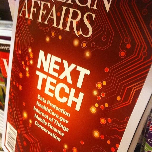 #NextTech En nuevo ejemplar de @ForeignAffairs Contribuciones de Craig Mundie, Clay Shirky, entre otros #SMCMX