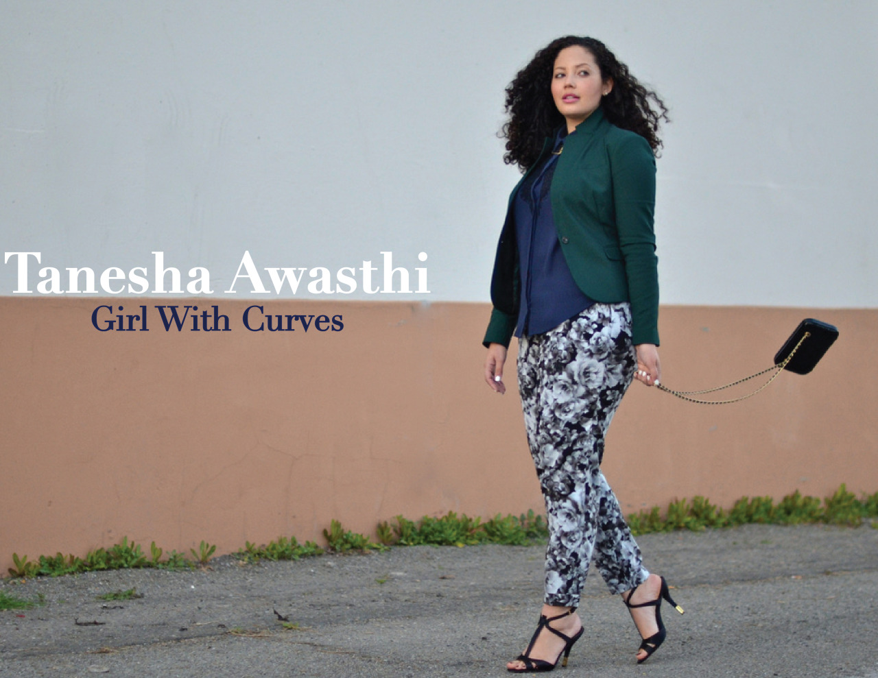 A Collected Interview: Tanesha Awasthi of Girl With Curves  What inspired you to become a blogger?  I started the blog as a creative outlet outside my fulltime job in the tech field, which was my hubby's idea. At the time, I didn't even know what a blog was, and I had no idea what I'd write about.  How does your heritage inspire your style?  I think my heritage is expressed mostly in my accessories.  I love unique, ethnic accessories from far away lands, and I'm mixed with 8 things equally.   What bloggers did you look up to before creating your own blog?  I hadn't known of any blogs when I started my own.  Over time though, I found The Glamourai, 9to5chic, Karla's Closet, Gary Pepper, and they quickly became my favorites.  I think the beauty of blogging is there's no 'right way' or no 'better layout.'  Blogging allows individuals to be individuals, and that's a really beautiful thing.   How does it feel to have a following of people who is inspired by you?  It's the most amazing feeling in the world to be able to help girls and women feel good about themselves, while having fun with fashion and spreading a positive message.  What do you think you'll dress like in ten years?  In ten years I hope to be wearing my own clothing line! (Fingers-crossed).  What season do you feel like your style is at its highest level?  Definitely Fall/Winter.  I love layering, wearing boots, sweaters, coats, and scarves… Colder climates allow me to get much more creative with fashion.  Who are some of your favorite designers?  Oscar de la Renta is amazing, and Valentino is timeless and classic with a bit of edge.  Michael Kors is also pretty fab.  Do you have any tips for females looking to become fashion bloggers?  The best advice I can give is to be yourself, develop your own unique voice, and above all else: blog about what you're passionate about.  How do you feel about the state of Plus Size bloggers?  I think the Plus blogging genre is growing and growing, which is great!  We all have different styles and different qualities to offer, and I love seeing such diversity in such a small community.  Who's your style icon?  I really love Olivia Palermo, Rachel Zoe and Kourtney Kardashian's style, as well as Audrey Hepburn's and the young Elizabeth Taylor's.  What would you say has been your biggest achievement as a blogger?  Being able to impact lives through showing that you can be stylish and have fun with fashion at any size.  What keeps you inspired?   My readers!  Knowing that I'm helping at least one person in the world keeps me going.  Website | Twitter | Facebook |