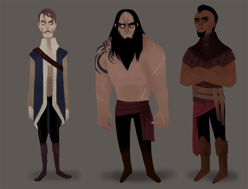 Characters from the novel Throne of Glass.  A couple of the thugs in the book.  These were more done for fun rather than doing actual characters from the book.  So I did a couple of background champions.    Part 4 of 5.
