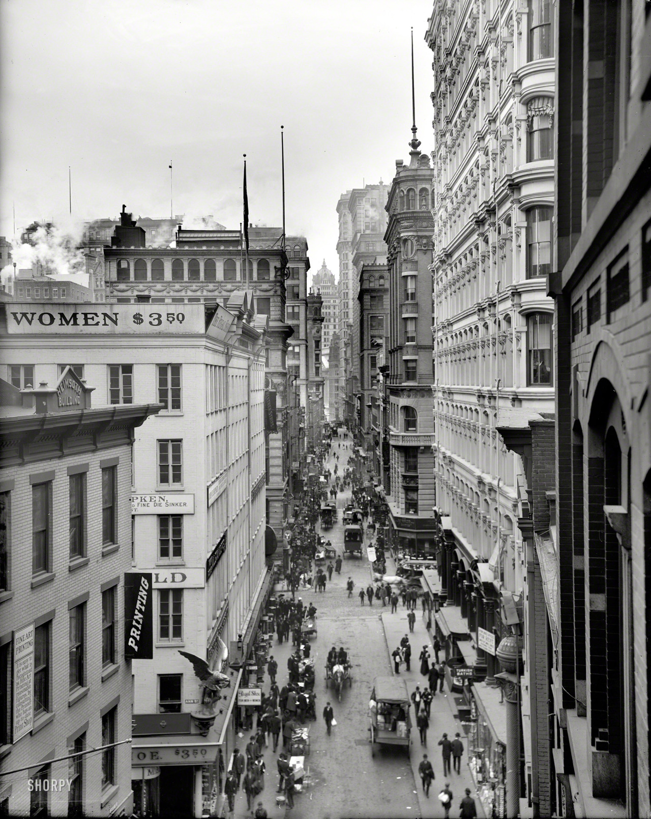 New York City, 1905 (via Shorpy Historical Photo Archive) Some curious signs, there.