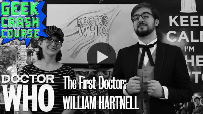 Geek Crash Course begins their Doctor Who 50th Anniversary celebration with a course on the First Doctor: William Hartnell. Join in for the origin of this classic series, the TARDIS, the deadly Daleks, and more! WATCH NOW ON BLIP: The First Doctor: William Hartnell