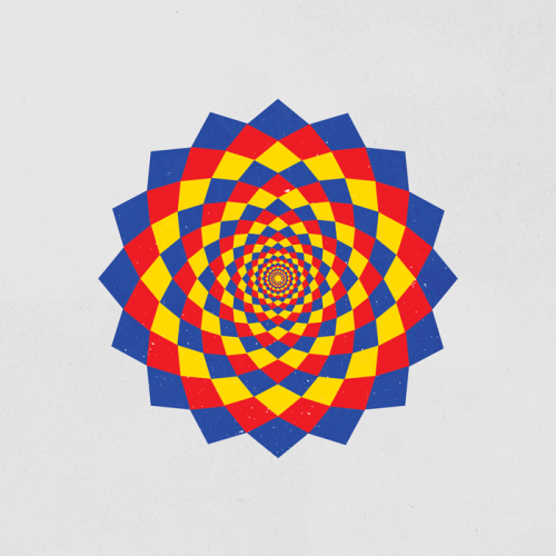 dailygeometry:  #006 Flower Trippin'.