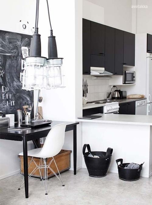 justthedesign:  Simple Workspace/Kitchen From Finland