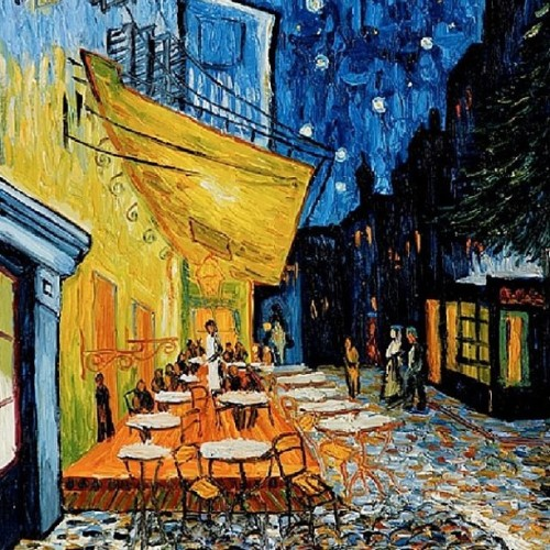 blondcupcake:  #Favorite #painting #vangogh #cafeterraceatnight #yay