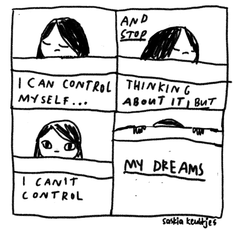saskiakeultjes:  Today: bad dreams a mood comic from this morning by Saskia Keultjes  facebook