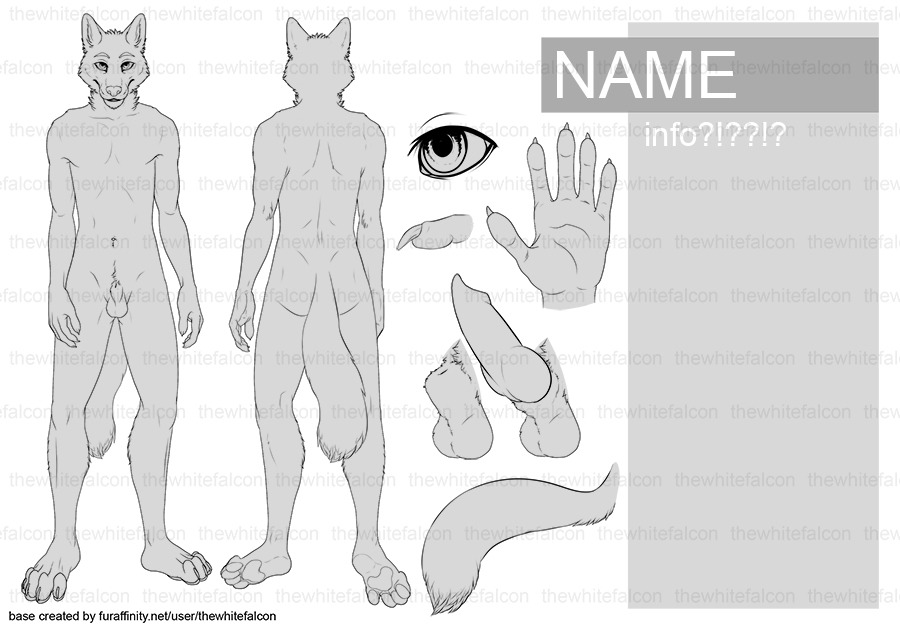 Pay-what-you-want reference sheet blanks available! Just $1 each! Information, features, rules and how to buy: http://www.furaffinity.net/view/10343655/ There's a male and a female/cboy version, both with some easy customization features like 2 removable pawpad designs, human/canine options for the genitals (on the male version), 2 choices of eyes (on the female/cboy version), and multiple chest options (for the female/cboy version)! Comes as a PSD, which you can open in Photoshop or Paint Tool Sai. Trying to knock the last chunk of my medical bills out this month, I'm so close! Help me out and get a REALLY neat ref sheet blank that you can use as much as you want, it's like getting one of my reference sheets for 90% off (well, with a little extra effort on your part)! :P