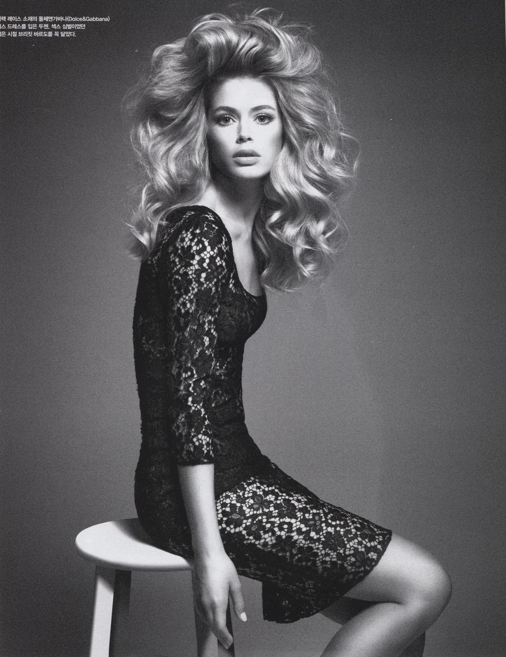 pretaportre:  Doutzen Kroes by Daniele + Iango in 'Powerful Faces' for Vogue Korea, March 2013.  Farrah?