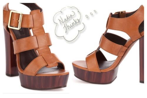 "Rue La La current pick: Rachel Zoe platform ""Lila"" sandals.  Only this star stylist could make me excited for some chunky heeled shoes. With floral skirts and 70s inspired jeans, I could see myself slopping happily for hours in these.   Best of all, the Lilas are on sale from $355 to $149 on Rue La La today. www.RueLaLa.com/invite/NadiaThinks if you need one!  Hooray for spring!"