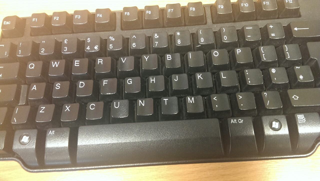 darrenboyd:  Someone rearranged the keys on a school keyboard. I think they're trying to tell me something ???