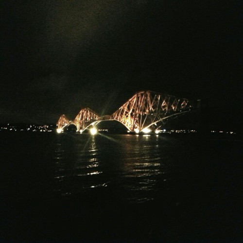forth bridge .. by night.. I heart Edinburgh! #scotland #blogmanay by agentcikay http://instagr.am/p/UEmfKhHs4x/