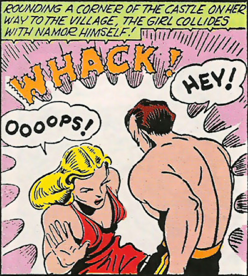 superdames:  Whoopsy doodle —Marvel Mystery Comics #23 (1941) by Bill Everett