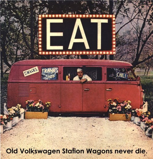 Old Volkswagen Station Wagons never die, c. 1965.