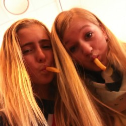 @madeleinvw #french #fries #class #music #school #friends #fun #crazy #blond #FOOD