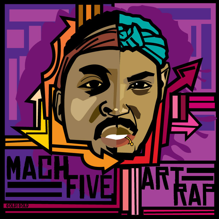 machfiveusa: Mach Five Art Rap Alt. Cover by Goldi Gold.