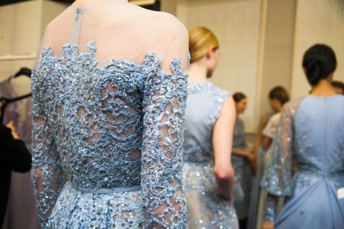 girlannachronism:  Elie Saab spring 2013 couture backstage