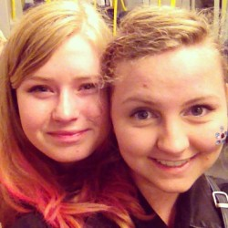 We have pink hair!! @nanniroastbeef 💖#pink #awesome #girls #party #letsgo #whoopwhoop #sweden