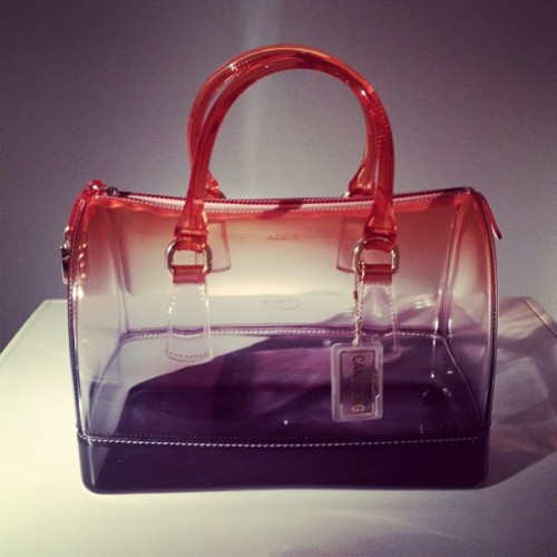 officialstyledotcom:  Furla Candy bag now in tie-dye for Fall. ML