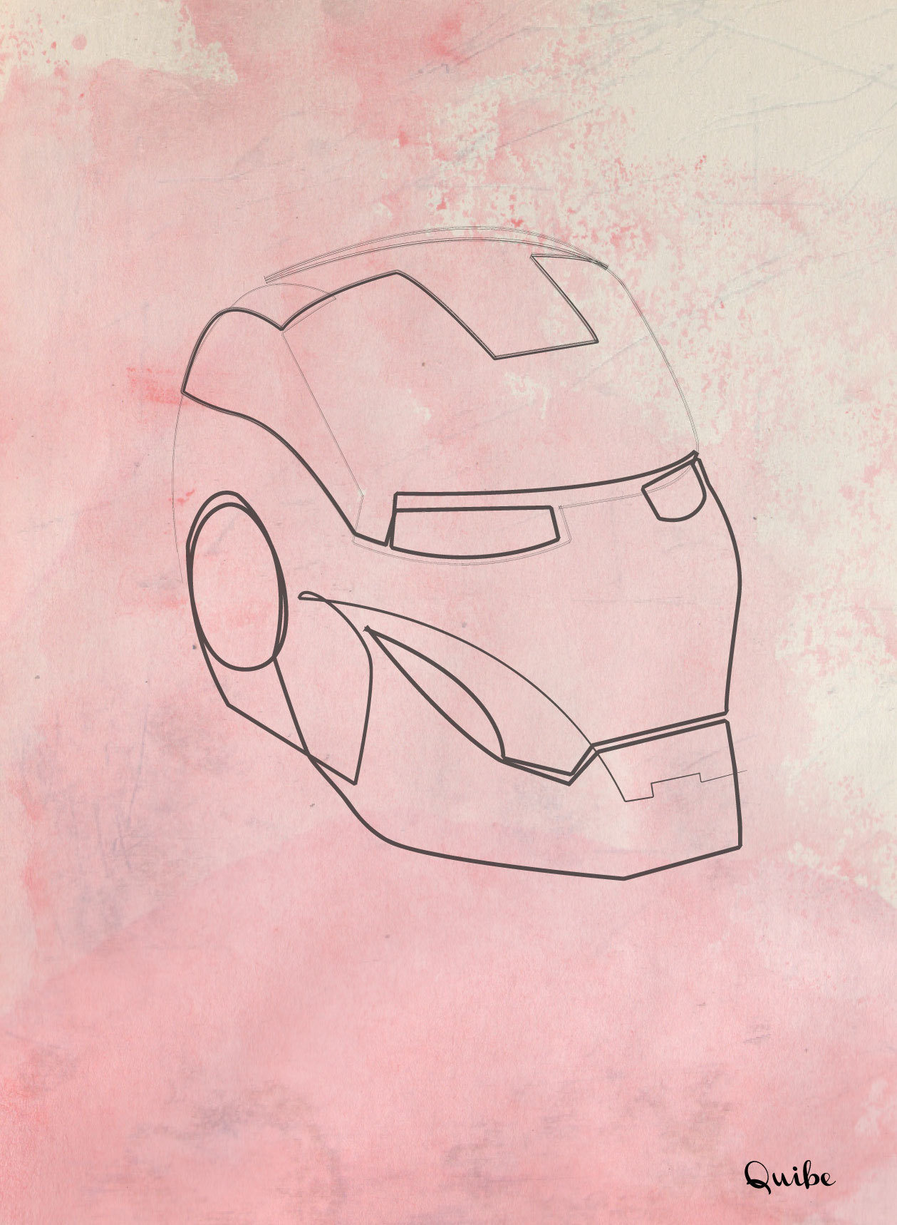 One line Iron man