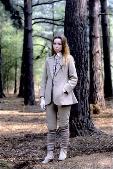 My favorite Doctor Who companion (Romana II played by Lalla Ward) in my favorite Doctor Who episode (State of Decay) wearing my favorite of her outfits.Her socks/stockings <3