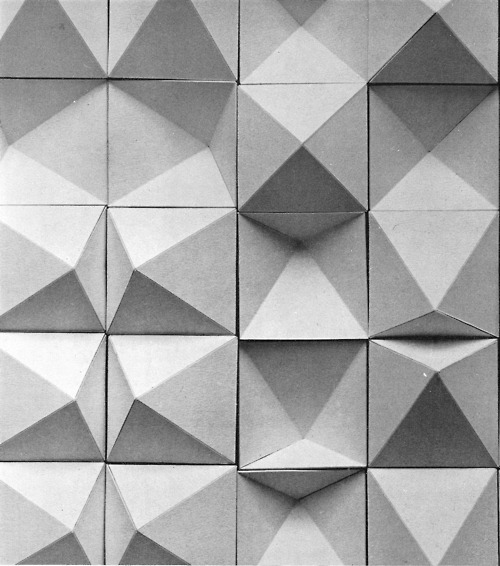 theleoisallinthemind:  ROBERT DICK CONVEX AND CONCAVE TILES, 1960s