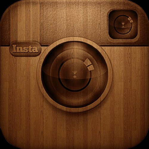 #instagram #logo #icon #instapic #wood