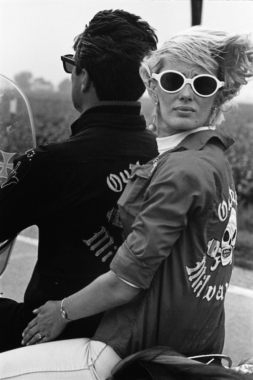 lauramcphee:  Memorial Day Run, Milwaukee, 1966 (Danny Lyon, The Bikeriders)