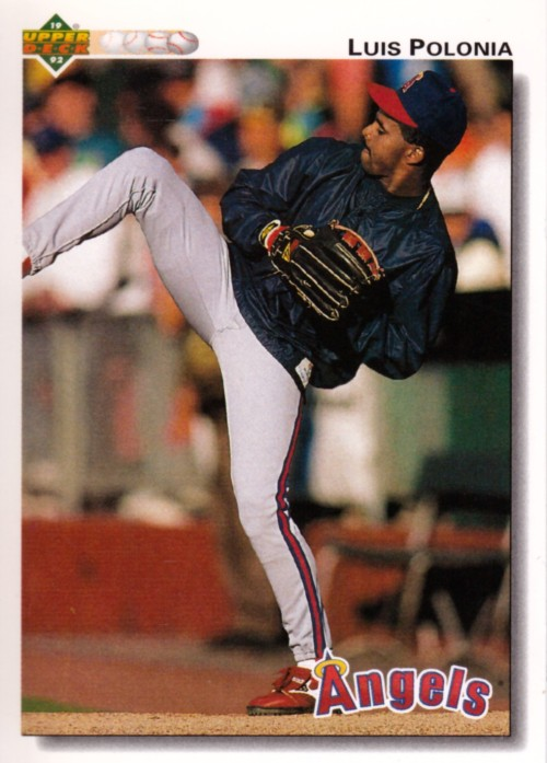 Random Baseball Card #2334: Luis Polonia, outfielder, California Angels, 1992, Upper Deck.