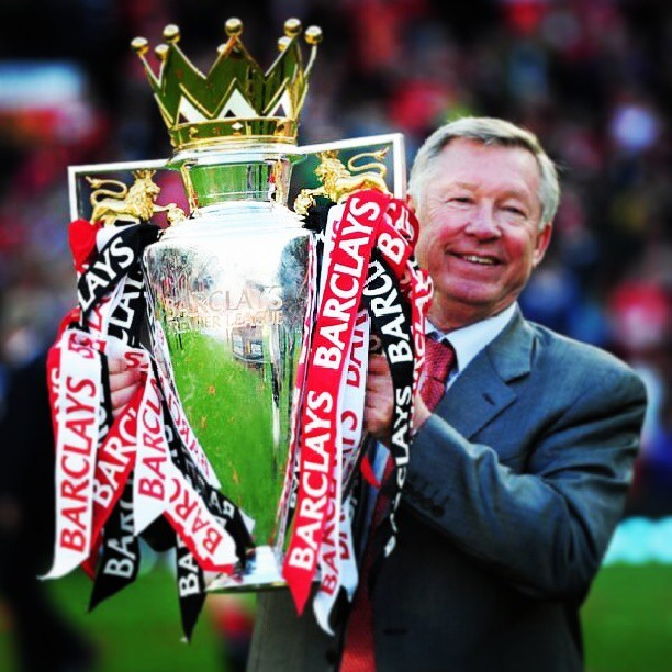 paulghanem12:  The Last Trophy Sir Alex Ferguson Will Lift As Manchester United Manager #ThankyouSirAlex #Mufc ♥♥  We Will Miss You