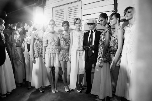 expectationskillus:  Backstage at the Chanel Cruise 2013/14 fashion show