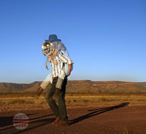 Manti Te'o goes for a stroll with his main squeeze in the desert.