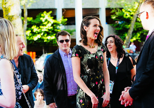 Amy Acker & Nathan Fillion, Much Ado About Nothing Seattle premiere (16/5/13)