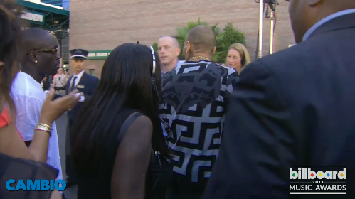 Chris Brown arriving at the Billboard Music Awards