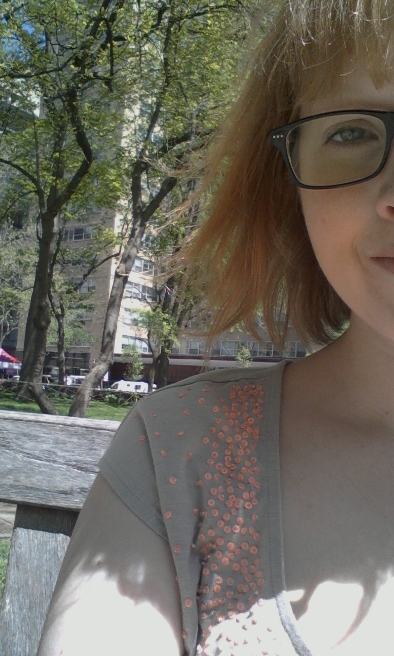 Lunch in the park today! The birds wouldnt leave me alone unless I gave them some of my bread.