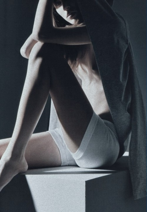 "pradaphne:  Freja Beha Erichsen in ""Sex in the Shadows"", photographed by Mario Sorrenti for V Magazine #46."