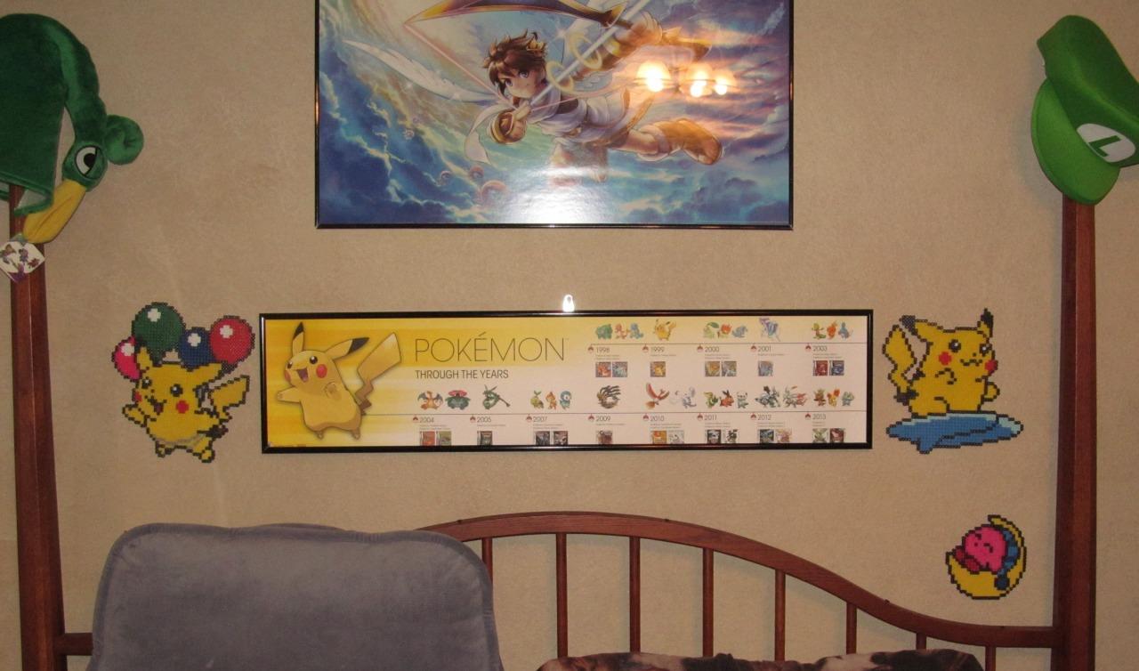 so i finally got a poster frame for the pokmon timeline poster i got forever ago