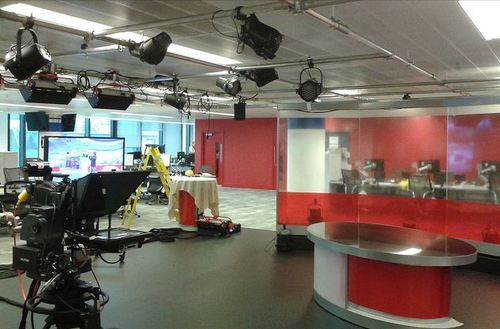 BBC News Studio by Stuart Pinfold