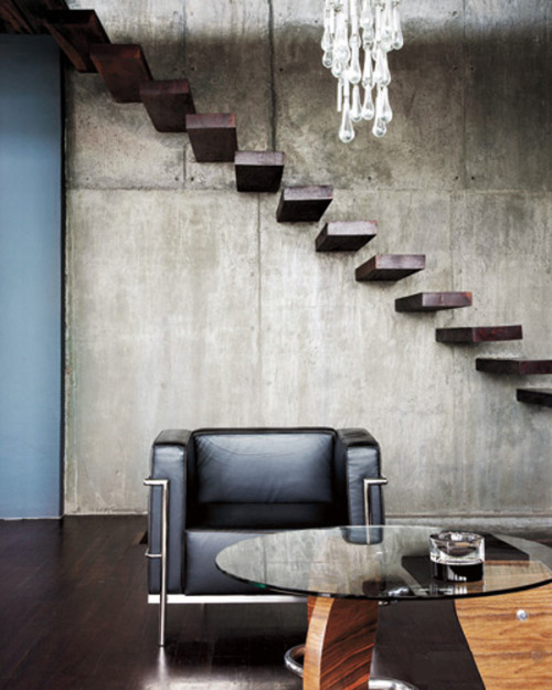 justthedesign:  Cube Chair Staircase